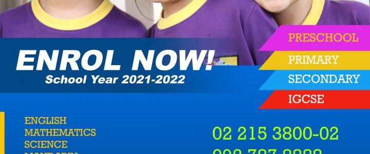 Enrol Now – School Year 2021-2022